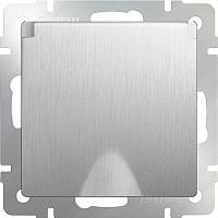 Розетка Werkel WL09-SKGSC-01-IP44 / a035650 (серебристый рифленый) -