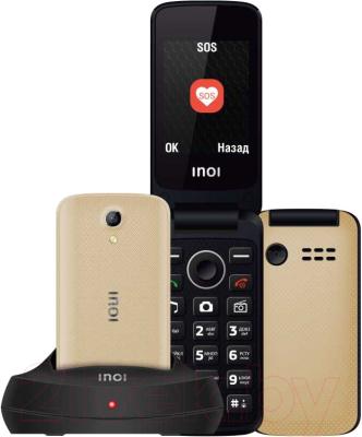 Мобильный телефон Inoi 247B с док-станцией (золото)