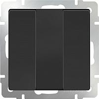 Выключатель Werkel WL08-SW-3G / a033753 (черный матовый) -