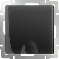Розетка Werkel WL08-SKGSC-01-IP44 / a029865 (черный матовый) -