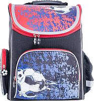 Школьный рюкзак Котофей 02704110-40 (черный/красный) -