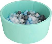 Игровой сухой бассейн Romana Airpool ДМФ-МК-02.53.01 (150 шариков, бирюзовый) -