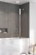 Стеклянная шторка для ванны Radaway Nes PND II 110 R / 10009110-01-01R -