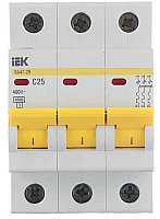 Выключатель автоматический IEK ВА 47-29 3Р 25А 4.5кА С -