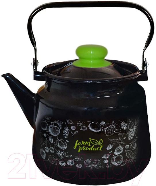 Купить Чайник со свистком Appetite, Berry 1c26c, Россия, черный