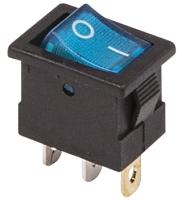 Выключатель клавишный Rexant ON-OFF Mini 36-2171 (синий) -
