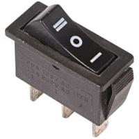 Выключатель клавишный Rexant ON-OFF-ON 36-2220 (черный) -