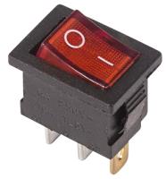 Выключатель клавишный Rexant ON-OFF Mini 36-2150 (красный) -
