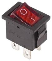 Выключатель клавишный Rexant ON-OFF Mini 36-2190 (красный) -