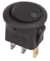 Выключатель клавишный Rexant ON-OFF 36-2583 (зеленый) -