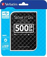 Внешний жесткий диск Verbatim Store 'n' Go USB 3.0 500GB / 53193 (черный) -