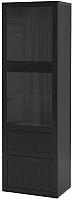 Шкаф-пенал с витриной Ikea Бесто 993.008.77 -