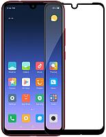 Защитное стекло для телефона Case Full Glue для Redmi 7A (черный глянец) -