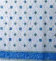 Шторка-занавеска для ванны Miranda Plaid Blue -