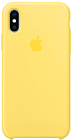 Чехол-накладка Apple Silicone Case для iPhone XS Canary Yellow / MW992 -