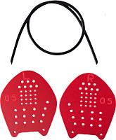 Лопатки для плавания LongSail Targe (S, красный) -