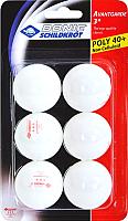 Мячи для настольного тенниса Donic Schildkrot Avantgarde (6шт, белый) -