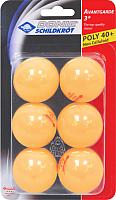 Мячи для настольного тенниса Donic Schildkrot Avantgarde (6шт, оранжевый) -