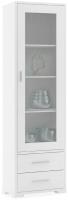 Шкаф-пенал с витриной Dipriz Мэдисон / Д.1151.1 (белый воск) -