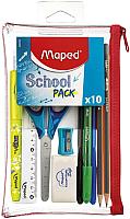 Пенал Maped Transparent School (с наполнением) -