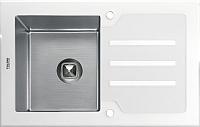 Мойка кухонная Tolero TG-780 (белое стекло) -