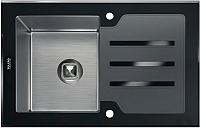 Мойка кухонная Tolero TG-780 (черное стекло) -