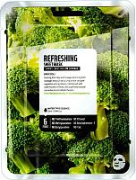 Маска для лица тканевая Superfood Salad for Skin Брокколи - Свежесть (25мл) -