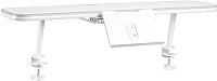 Полка для парты Растущая мебель Smart E515 навесная c подставкой (белый/серый) -