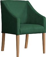 Кресло мягкое Atreve Cube (зеленый BL78/дуб) -