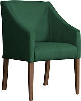 Кресло мягкое Atreve Cube (зеленый BL78/орех) -