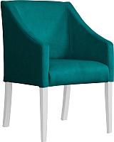 Кресло мягкое Atreve Cube (морской BL85/белый) -