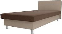 Односпальная кровать Лига Диванов Мальта / 101749 (рогожка коричневый/бежевый) -