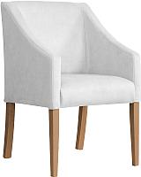 Кресло мягкое Atreve Cube (серебристый BL03/дуб) -