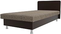 Односпальная кровать Лига Диванов Мальта / 101756 (корфу 03/экокожа коричневый) -
