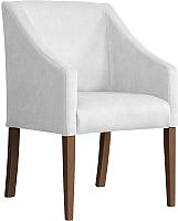 Кресло мягкое Atreve Cube (серебристый BL03/орех) -
