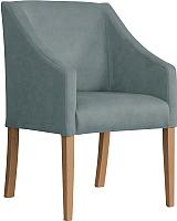 Кресло мягкое Atreve Cube (серый BL14/дуб) -