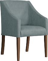 Кресло мягкое Atreve Cube (серый BL14/орех) -