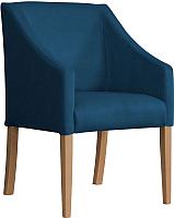 Кресло мягкое Atreve Cube (синий BL86/дуб) -