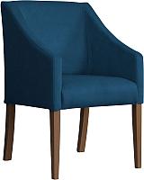 Кресло мягкое Atreve Cube (синий BL86/орех) -
