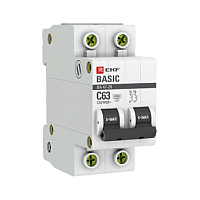 Выключатель автоматический EKF ВА 47-29 2P 20A (C) 4.5кА / mcb4729-2-20C -