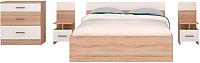Комплект мебели для спальни Горизонт Мебель Уют-1 (белый/сонома) -