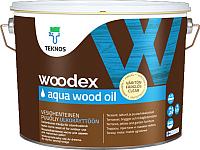 Масло для древесины Teknos Woodex Wood Oil Aqua (9л, коричневый) -