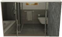 Шкаф с зеркалом для ванной Vela Фаворит 120-3 (01226120) -