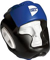 Боксерский шлем Green Hill Poise HGP-9015-L-BL (L, черный/синий) -