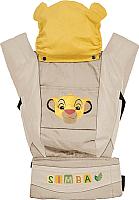 Сумка-кенгуру Polini Kids Disney Baby Король Лев с вышивкой (бежевый) -