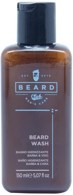 Купить Шампунь для бороды Beard Club, Гигиенический для бороды и лица (150мл), Италия