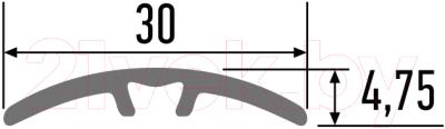 Порог КТМ-2000 70-617 Н 1.35м (дуб беленый)