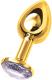 Пробка интимная ToyFa 712004 (золото/белый) -