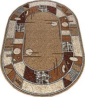 Ковер Белка Лайла Де Люкс Овал 15104 10122 (1.4x2.9) -