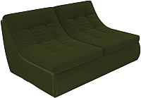 Диван Лига Диванов Холидей Модуль / 101875 (микровельвет зеленый) -
